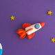 Space Rocket Blasting Off - PhotoDune Item for Sale