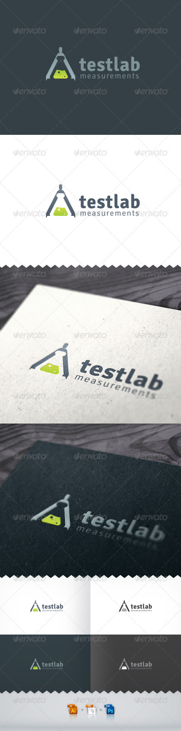 Test Lab Measurements Logo - Objects Logo Templates
