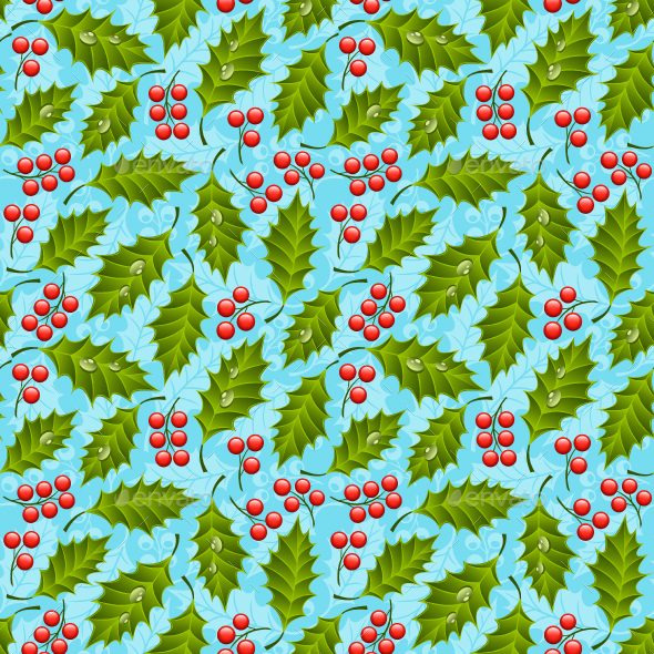 Seamless Holly - Patterns Decorative