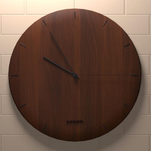 3DOcean Wooden clock 20770244