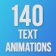140 Text Animations - VideoHive Item for Sale