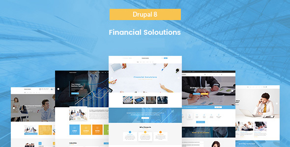 Financial Solutions - Financial & Business Drupal 8 Template - Business Corporate
