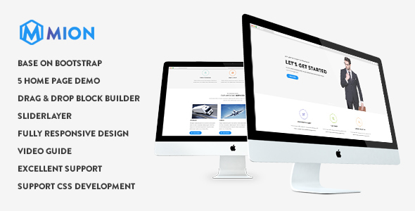 Mion - Responsive Business Service Drupal 8 Theme - Business Corporate