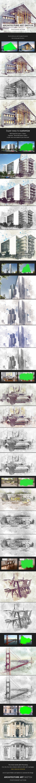 GraphicRiver Architecture Sketch Photoshop Action Advanced 20770452