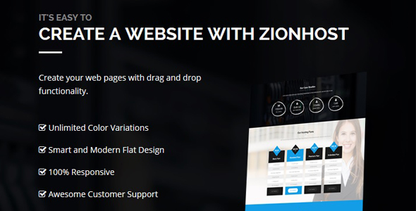 Image of ZionHost - Web Hosting, WHMCS and Corporate Business WordPress Theme