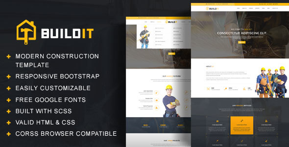 BuildIt - Construction HTML Template - Corporate Site Templates