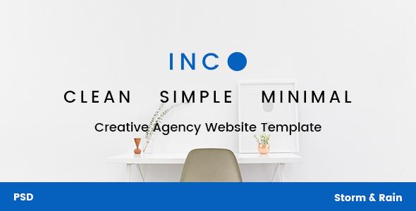 INC. - Minimal Creative Agency Website PSD Template - Creative PSD Templates