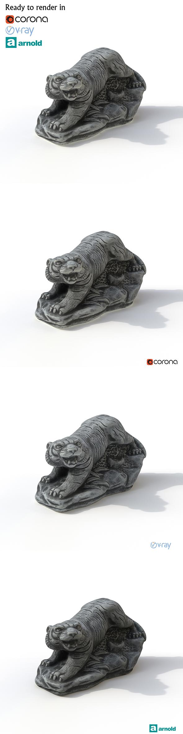 Statuettte Tiger - 3DOcean Item for Sale