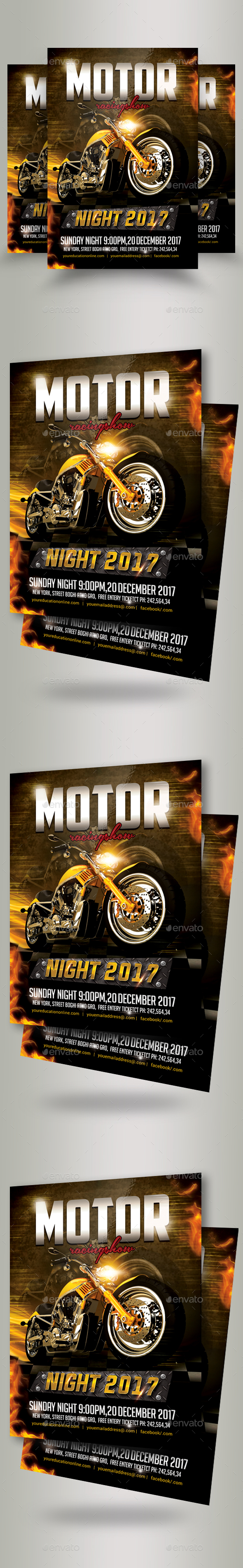 Bike Racing Flyer Template - Sports Events