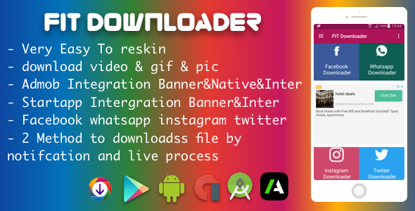 CodeCanyon Facebook Instagram WhatsApp Twitter Downloader With Native Ads and StartApp 20771017