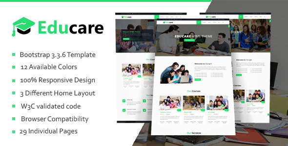 Download Educare - Education HTML Template