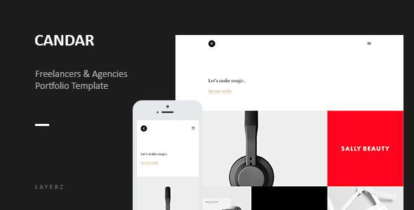 Image of Candar - Freelancers & Agencies Portfolio Template