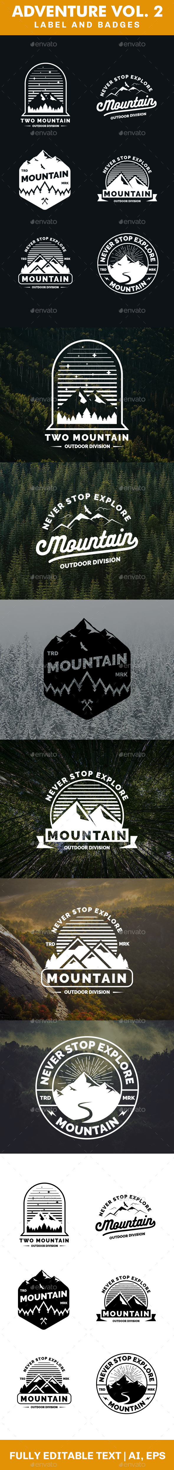 Adventure Logo and Badges Vol 2 - Badges & Stickers Web Elements