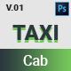TAXI Cab PSD