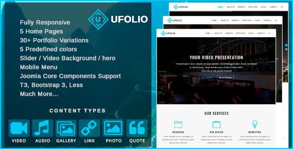 Image of Ufolio - Multipurpose & Portfolio Joomla Template