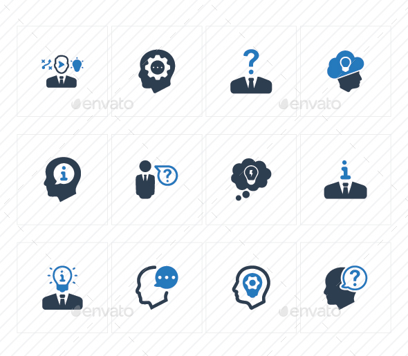 GraphicRiver Business Idea Icons Blue Version 20772099
