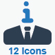 Business Idea Icons (Blue Version)