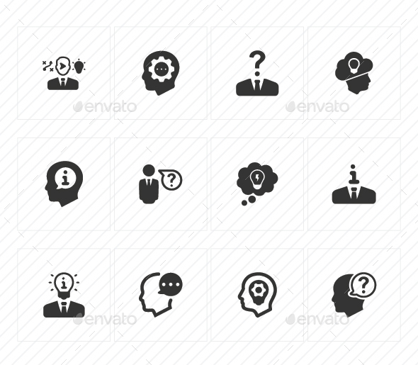 GraphicRiver Business Idea Icons Gray Version 20772105