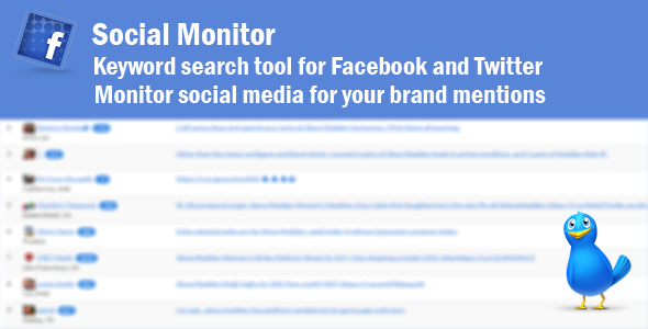 Social Monitor - Find Your Brand Mentions on Social Media - CodeCanyon Item for Sale