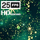 Glitter Star Green HD