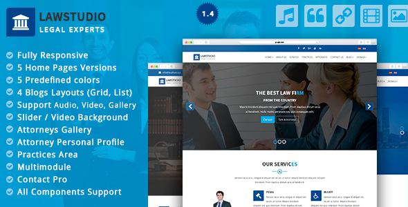 LawStudio - Lawyer and Law Firm Joomla Template - Joomla CMS Themes