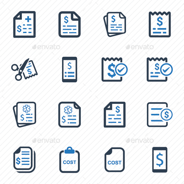 GraphicRiver Cost Icons Blue Version 20772157