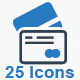 Credit Card Icons - Blue Version