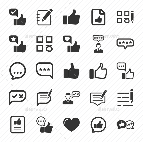 GraphicRiver Feedback Icons Gray Version 20772287