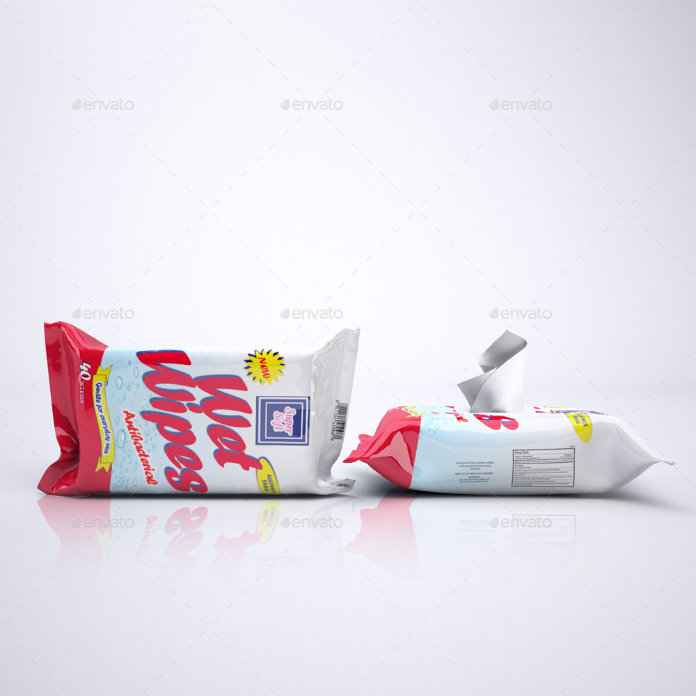 Wet Wipes Mock Up By Sanchi477 Graphicriver
