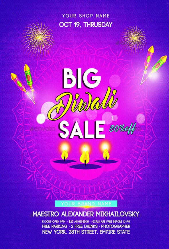 big diwali sale flyer by luckyinspiron graphicriver