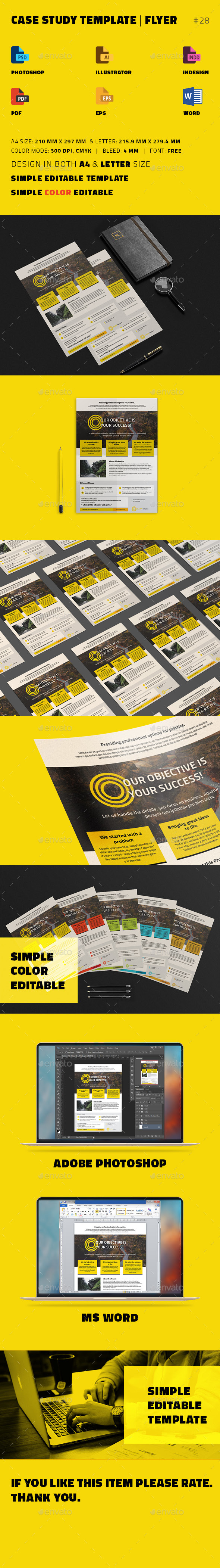 GraphicRiver Case Study Template Flyer 20772586