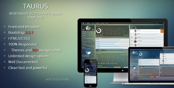Taurus - Responsive Bootstrap Admin Template