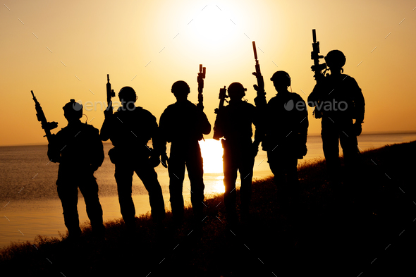 army soldier silhouettes stock photo by getmilitaryphotos photodune https photodune net item army soldier silhouettes 20772964