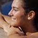 Woman Relaxing in Resort Pool