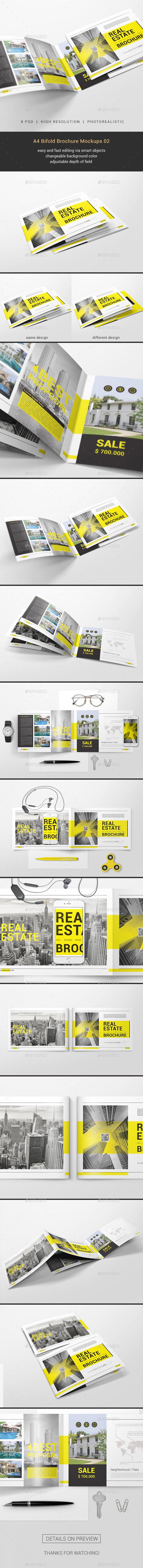 GraphicRiver A4 Bifold Brochure Mockups 02 20772899