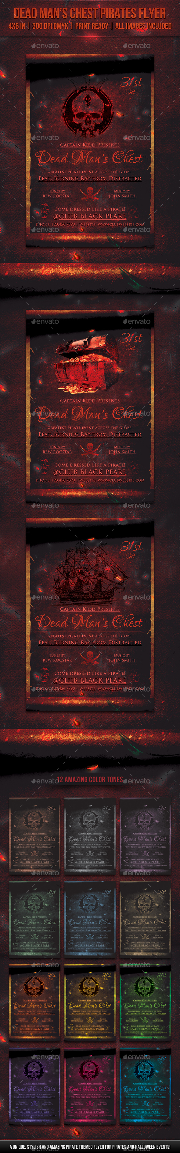 Dead Man's Chest Pirates Flyer - Miscellaneous Events