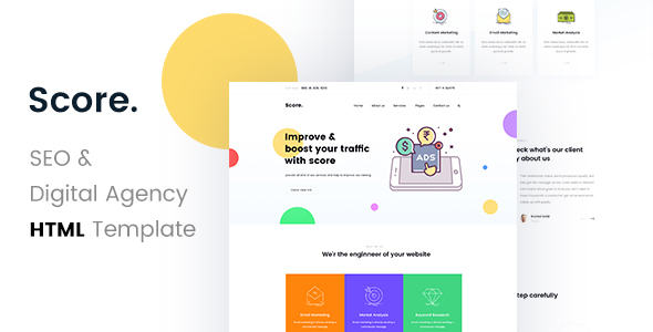Download Score - SEO /Digital Agency HTML5 Template
