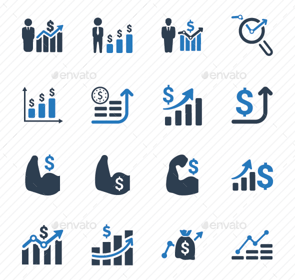 GraphicRiver Financial Strength Icons Blue Version 20773045
