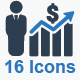 Financial Strength Icons - Blue Version