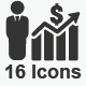 Financial Strength Icons - Gray Version