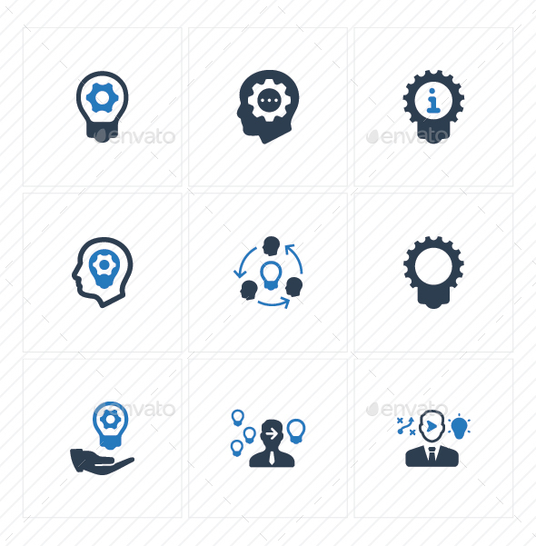 GraphicRiver Idea Development Icons Blue Version 20773112