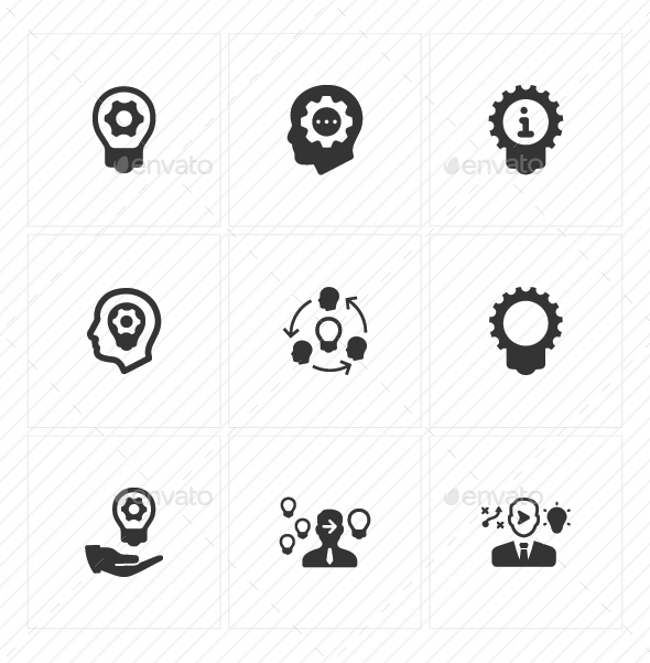 Idea Development Icons - Gray Version - Business Icons