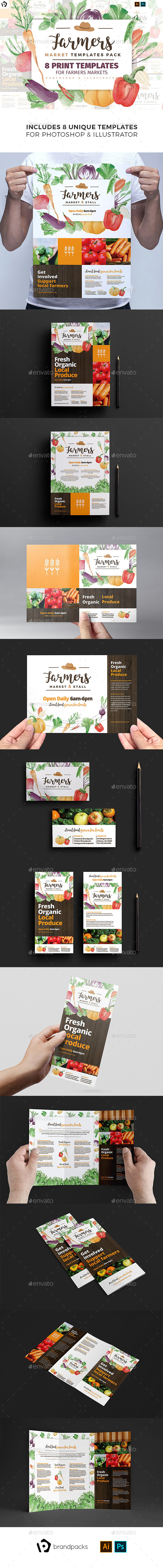 Farmers Market Templates Pack - Commerce Flyers