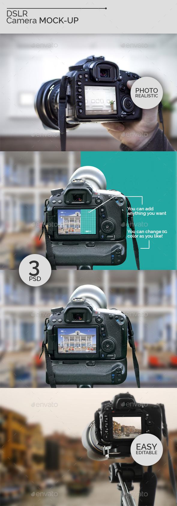 DSLR Camera Mock-Ups V2 - Miscellaneous Displays
