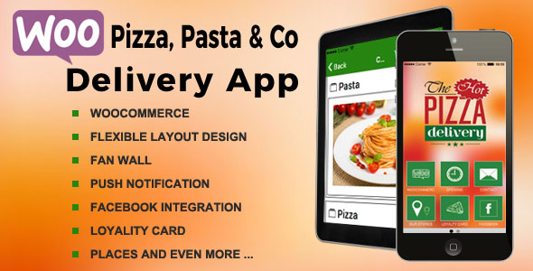 Pizza Delivery iOS & Android App with WooCommerce - CodeCanyon Item for Sale