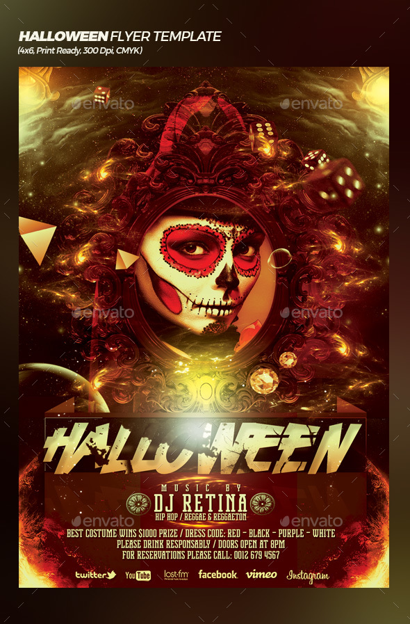 Halloween Bash Flyer / Poster Template - Events Flyers
