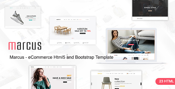 Marcus - Multipurpose WooCommerce and Magento HTML5 and Bootstrap Template