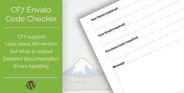 CodeCanyon CF7 Envato Purchase Code Checker 20701058
