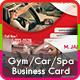 Gym, Spa & Car Business Card Templates