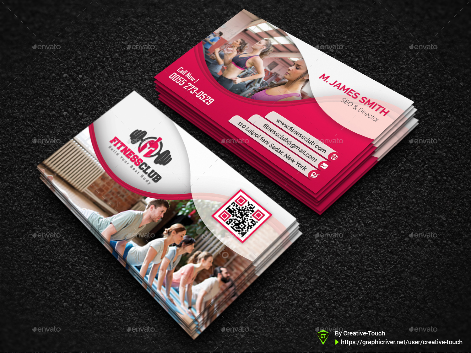 Gym, Spa & Car Business Card Templates by Creative-Touch ...
